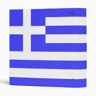 Greek Flag 3 Ring Binder