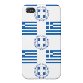 Greek Flag and Crest Case For iPhone 4