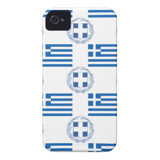 Greek Flag and Crest iPhone 4 Case-Mate Case