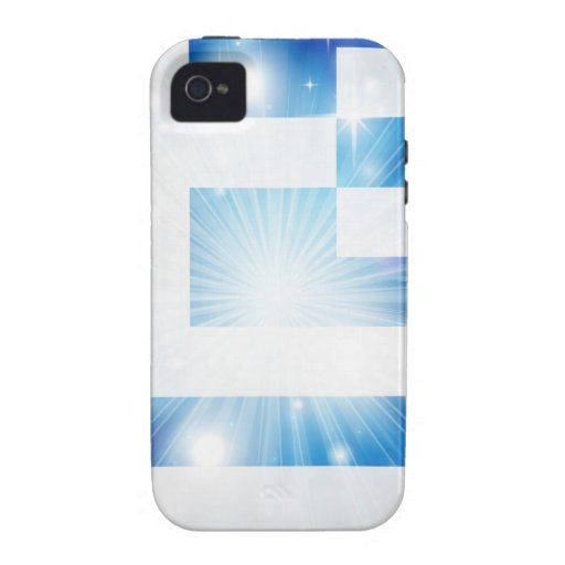 Greek flag background Case-Mate iPhone 4 cover