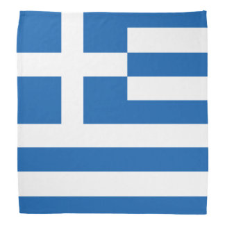Greek flag bandanas bandana