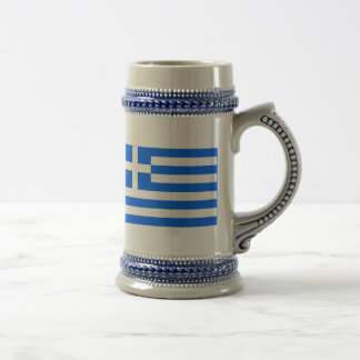 greek Flag Beer Stein