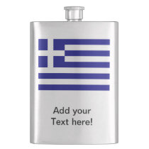 Greek Flag Flask
