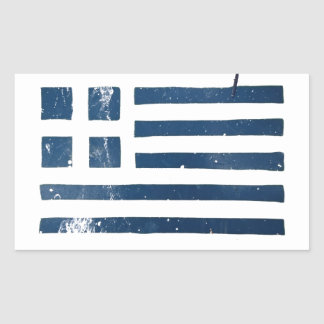 greek flag grunge stencil rectangular sticker