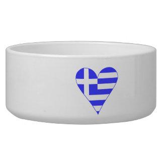 Greek Flag Heart Funky Bowl