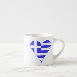 Greek Flag Heart Funky Espresso Cup