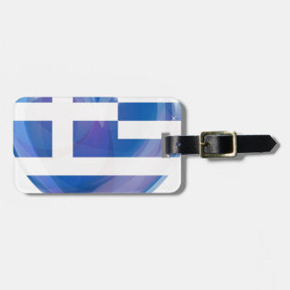 Greek flag heart tag for bags