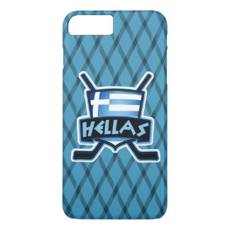 Greek Flag Ice Hockey Mobile Cover