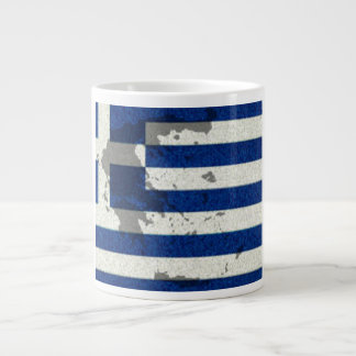 Greek flag  inspired jumbo coffee mug