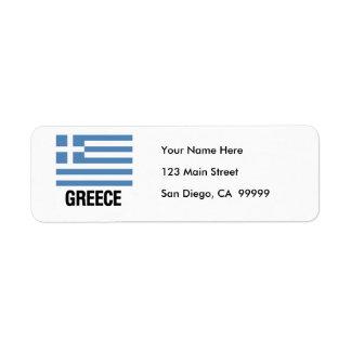 GREEK FLAG LABEL
