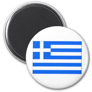 greek Flag 2 Inch Round Magnet
