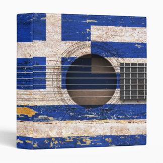 Greek Flag on Old Acoustic Guitar Binder