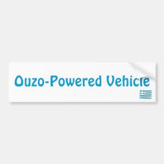 Greek flag Ouzo-Powered Vehicle Bumper Sticker