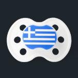 "Greek flag pacifier<br><div class=""desc"">image of the Greek flag on a blue background</div>"