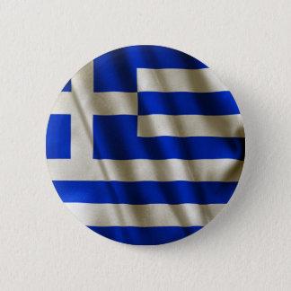 Greek Flag Pinback Button