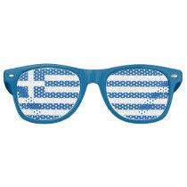Greek Flag Retro Sunglasses
