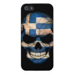 Greek Flag Skull on Black iPhone 5/5S Covers