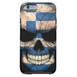 Greek Flag Skull on Black Tough iPhone 6 Case