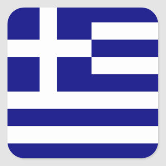 Greek Flag Square Sticker