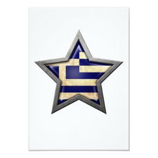 Greek Flag Star Personalized Invites
