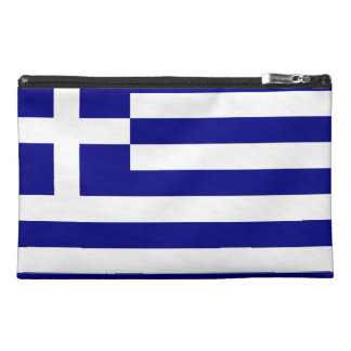 Greek Flag Travel Accessory Bag