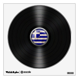 Greek Flag Vinyl Record Album Graphic Wall Decal