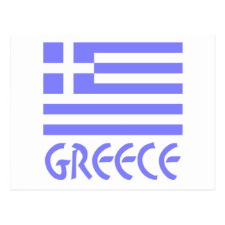 Greek Flag & Word Greece Postcard