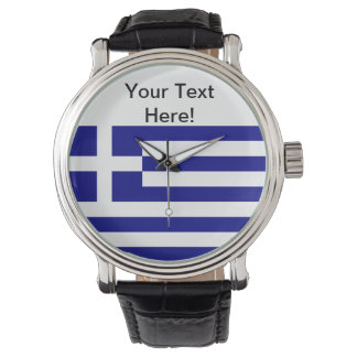 Greek Flag Wrist Watch