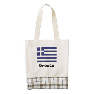 Greek Flag Zazzle HEART Tote Bag