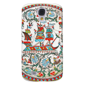Greek Folk Art Tall Ship Samsung Galaxy S4 Case