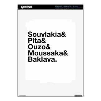 Greek Food Ampersand iPad 3 Decal