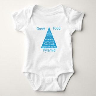 Greek Food Pyramid Baby Bodysuit