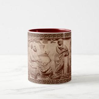 greek geek Two-Tone coffee mug