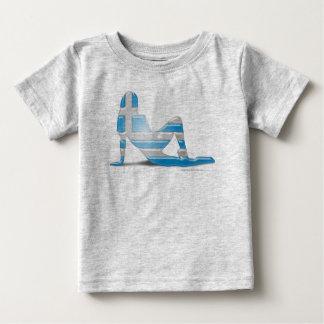 Greek Girl Silhouette Flag Baby T-Shirt