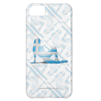 Greek Girl Silhouette Flag Cover For iPhone 5C