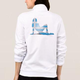 Greek Girl Silhouette Flag Printed Jacket