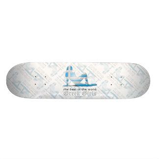 Greek Girl Silhouette Flag Skateboard Deck