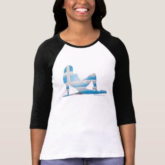 Greek Girl Silhouette Flag Tee Shirt