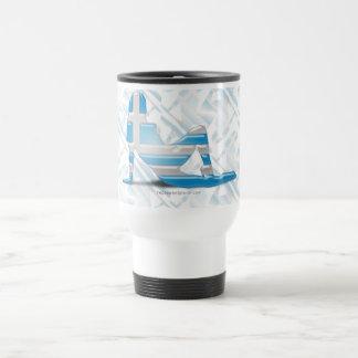 Greek Girl Silhouette Flag Travel Mug
