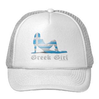 Greek Girl Silhouette Flag Trucker Hat