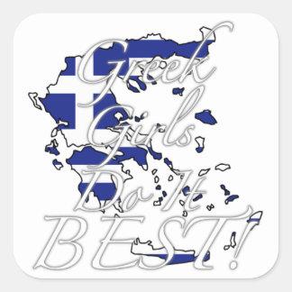 Greek Girls Do It Best! Square Sticker