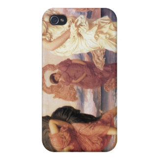 Greek Girls Picking up Pebbles - Frederic Leighton iPhone 4 Cases