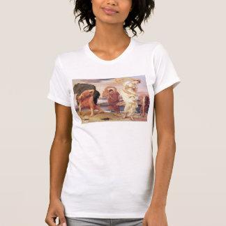 Greek Girls Picking up Pebbles - Frederic Leighton T-shirt