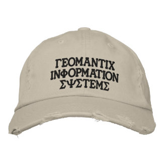 Greek GIS hat Embroidered Baseball Cap
