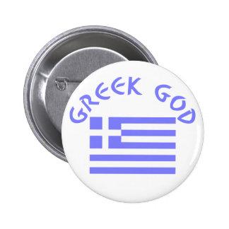 Greek God & Flag 2 Inch Round Button