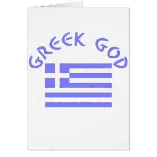 Greek God & Flag Card