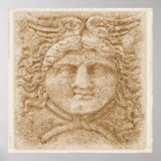 Greek God Hermes PICTURE ancient image of Hermes Poster