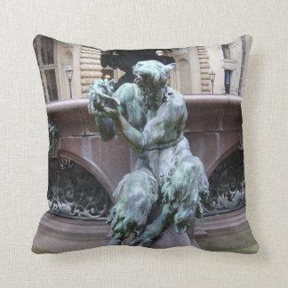 Greek God Pan Throw Pillow