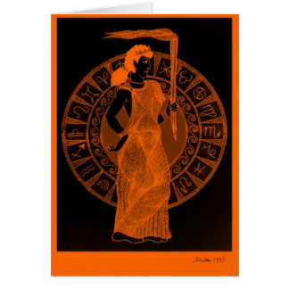 Greek Goddess in 'Black Figure Pottery' Style Card