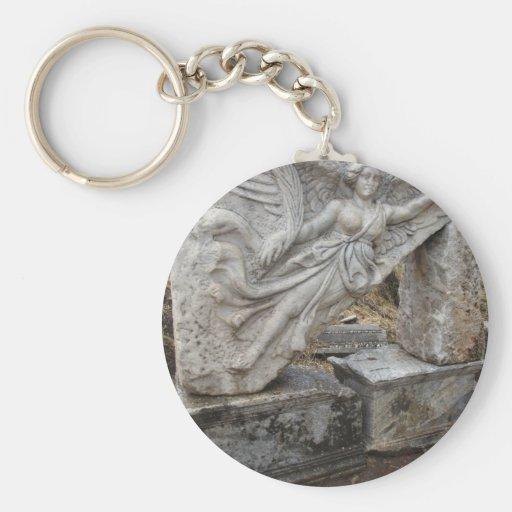 Greek Goddess Nike at Ephesus, Turkey Basic Round Button Keychain